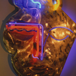 Portrait Artist Copper Aluminum Brass Neon