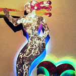 Mermaid LED Metal Sculpture Art Figure