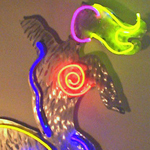 Spiral Neon Metal Art Sculpture Figure