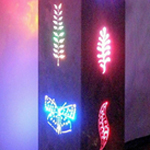 Aluminum LED butterfly tower