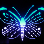 Aluminum LED butterfly