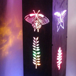 Aluminum LED butterfly lights